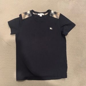 Boys Navy blue Burberry top size 10